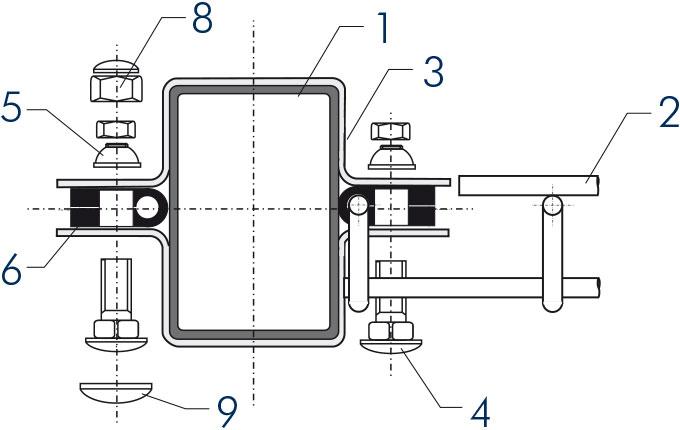 Panele ogrodzeniowe 2V - przekrój typ A